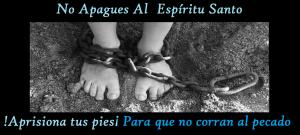 apagamos al Espíritu Santo cuando caminamos al pecado