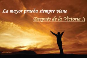 La prueba de la victoria